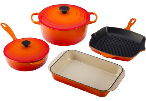 signature enameled cast iron 6 piece cookware set pinteresting products a curated list of. Black Bedroom Furniture Sets. Home Design Ideas