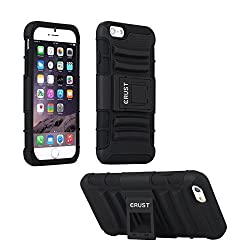 iPhone 6 Cover, CRUST Armor Case For Apple iPhone 6, iPhone 6S (4.7 Inch) Shock Proof High Impact Kick Stand Dual Layer Hard/Soft Back Cover - Retail Packaging