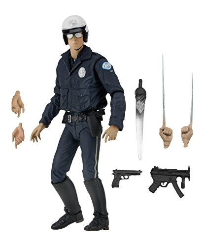 "NECA Ultimate T-1000 Motorcycle Cop Terminator Scale Action Figure, 2-7"""