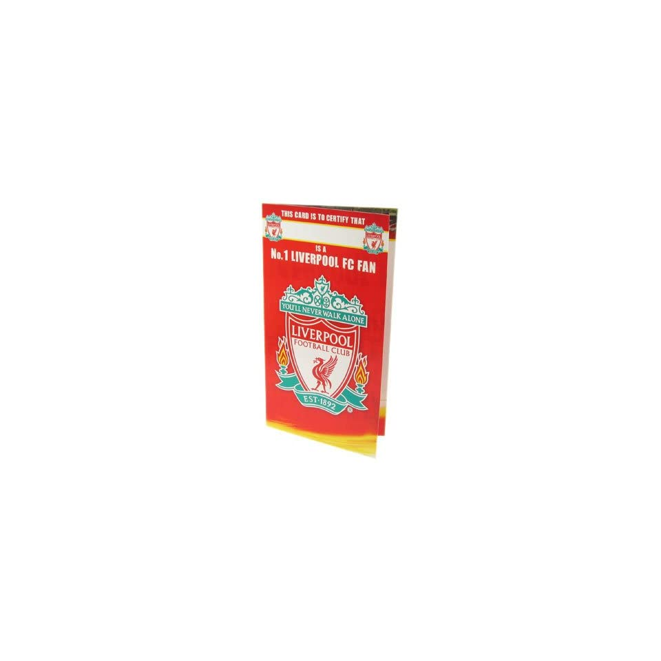 Liverpool FC No 1 Fan Birthday Card