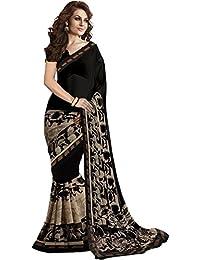 Jashvi Creation Woman's Cotton Silk Black Saree(SB_Black_Beauty)