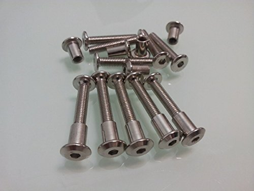 10pcs M6 X 25mm Kitchen Bedroom Cabinet Cupboard Fixings HEX Bolts Connectors (Cabinet Joining Screws compare prices)
