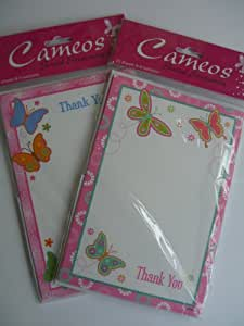 Thank You Notes (Butterflies)(Pad/Stationery){Cam2012/025} 20 Sheets with Envelopes