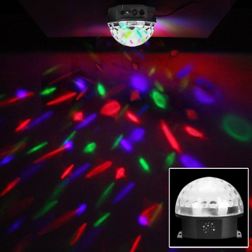 Wmicro Mp3 Small Carry-Home Stage Effect Light Rgb Led Dj Club Pub Disco Party Crystal Magic Ball 12W (Shipped From U.S.)