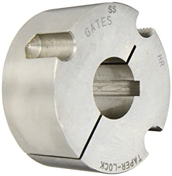 "Gates SS 2012 1. Taper-Lock Stainless Steel Bushing, 1"" Bore, 1.2"" Length, 2.0"" Max Bore"