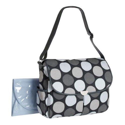 carter s big dot canvas messenger gray diaper bag nappy bags designer. Black Bedroom Furniture Sets. Home Design Ideas