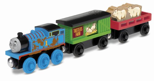 Fisher-Price Thomas the Train Wooden Railway Thomas' Pig Pick-Up