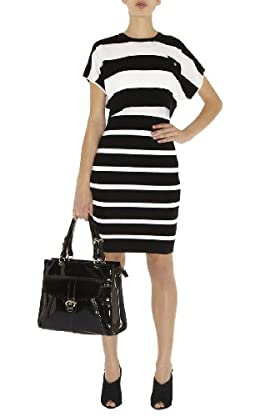 Block Stripe Knit Dress
