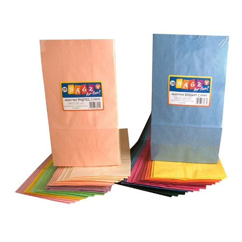 HYG66289 - COLORFUL PAPER BAGS SZ6 PASTEL