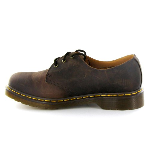 Dr.Martens 1461 Crazy Horse Brown Leather Mens Shoes Size 7