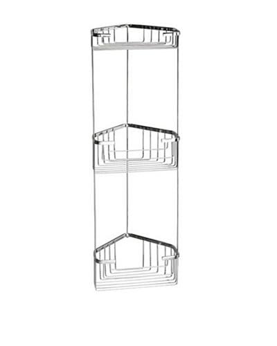 Nameek's Wire Corner Shower Shelf, Polished Chrome, 3-Basket