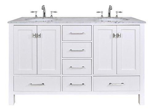 Stufurhome GM-6412-36PW-CR Malibu Pure Single Sink Bathroom Vanity 36 White