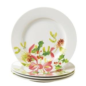 Paula Deen Signature Dinnerware Christmas Wreath Collection 4-Piece