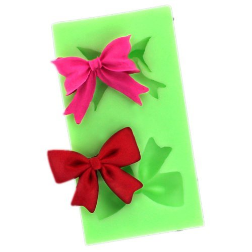 Jade Onlines Beautiful Creative Small Bowknot Silicone Fondant Sugar Pudding Diy Cake Cookie Mini Craft Mold