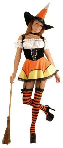 Candy Corn Witch Costume - X-Small - Dress Size 3-5