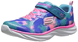 Skechers Kids Pepsters Athletic Sneaker (Little Kid/Big Kid),Blue/Pink,1 M US