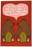 "NobleWorks C1661VDG ''At Least Once'' Funny Valentine's Day Unique Greeting Card, 5"" x 7"""