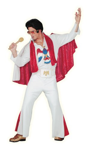 Authentic Deluxe White Elvis Presley Costume