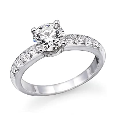 1 ctw. Round Diamond Solitaire Engagement Ring in Platinum