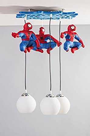 Spiderman para ni os h roe de acci n l mpara de techo - Lamparas de techo para ninos ...