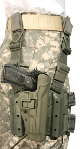 Blackhawk! Serpa Level 2 Tactical Holster Us Army, Foliage Green/Size 04, Right Hand, (Beretta 92/96/M9 Std Or A1 W/Rails (Not Brig/Elite)