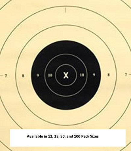 25 Yard Timed and Rapid Fire Repair Center Pistol Target Official NRA Target B-8(CT) (100 Pack) (Center Of The Fire compare prices)