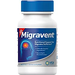 Migraine Relief - Migravent-Supplement - Natural Migravent Proprietary Remedy Vita Sciences - 60 Caps