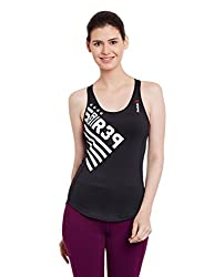 Reebok Women's Graphic Print T-Shirt (AJ0711_Black_X-Large)