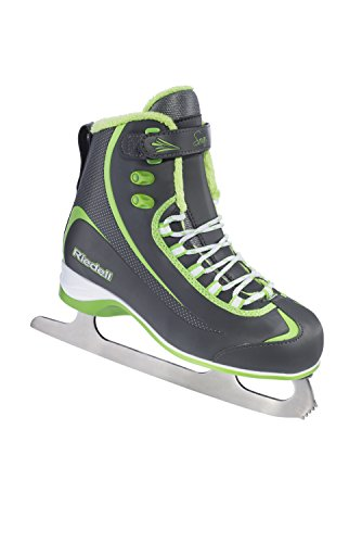 Riedell 625 2015 Model Figure Skates Soar (Gray/Lime, 10) (Ice Skate Shoes Men compare prices)