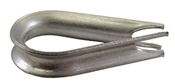 "Loos Cableware AN100-C10 Stainless Steel Thimble for 9/32"" and 5/16"" Diameter Wire Rope"