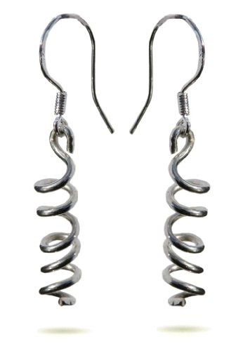 Handmade 925 Sterling Silver Wire Twist Drop / Dangle Earrings FREE Delivery in UK - Gift Wrapped