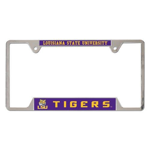 NCAA Louisiana State University Metal License Plate Frame (Louisiana License Plate Frame compare prices)