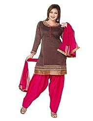 Ritu Creation Women's New Silk Stitched Patyala Suit - B0158JANMW