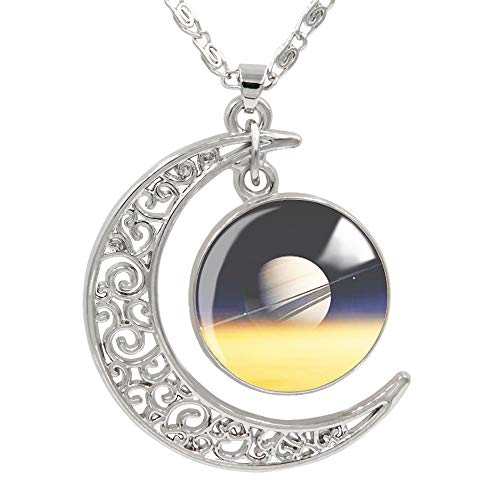 "FANSING Womens Marvelous Necklace, Saturn Pendant Necklaces, Universe Planet Jewelry, 18"" + 2"" Chain"