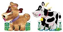 びっくり3Dペーパークラフト 犬&牛セット