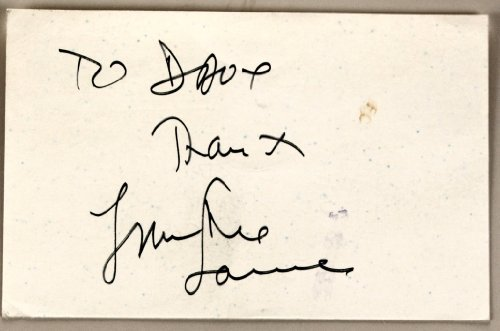 Frankie Laine Autograph - Signed Post Card - Inscribed - In Black Pen - Singer/ Songwriter / Actor - Perry Mason / Rawhide - Collectible (Singer Pen compare prices)