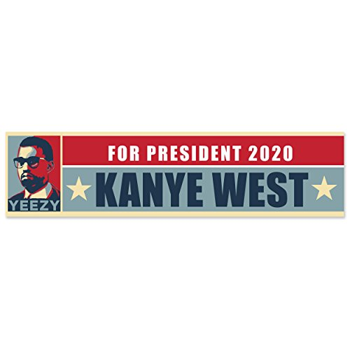 Bumper sticker political election mug market yeezy for president 2020 kanye west