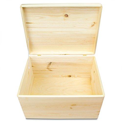 VENKON-Universal-Holzkiste-mit-Deckel-fr-Aufbewahrung-Kiefer-naturbelassen-unbehandelt-ca-40-x-30-x-235-cm