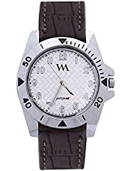 WATCH ME BLACK BROWN LEATHER ANALOG WATCH FOR MEN AND BOYS WMAL-036