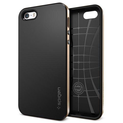 国内正規品 (二重構造) Spigen iPhone 5s / 5 ケース ネオ・ハイブリッド [シャンパンゴールド] SGP10582