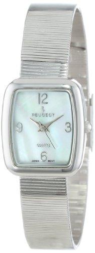 Peugeot Women's PQ13629S Silver-Tone Spiral Mesh Bracelet Watch
