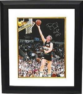 Dan Issel Autographed Hand Signed Denver Nuggets 8x10 Photo HOF 1993 Custom Framed by Hall of Fame Memorabilia