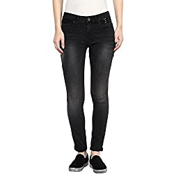 SF Jeans by Pantaloons Women's Slim Fit Jeans (205000005543786_Black_28)