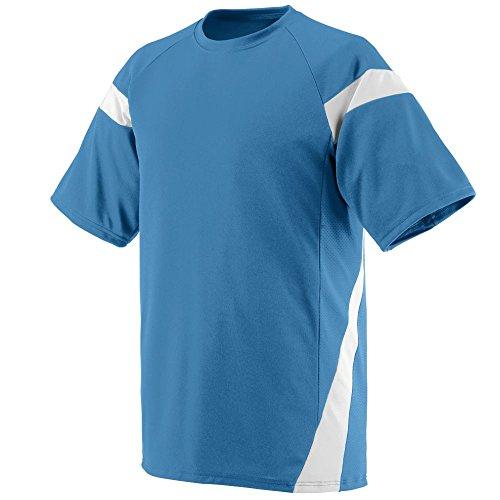 Augusta Sportswear 1611 Youth's Lazer Jersey Columbia Blue/White S