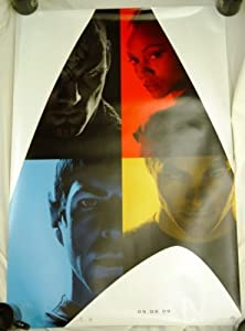 Star Trek The Movie Comic Con Poster 2009 Chris Pine Zachary Quinto Zoe Saldana Eric Bana RARE