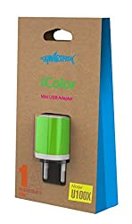Smartfish (i-color) Mini USB Adapter Wall charger (Green)
