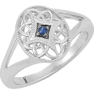Genuine IceCarats Designer Jewelry Gift Sterling Silver Sapphire Ring. Sapphire Ring In Sterling Silver Size 7