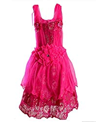 Motley Girls' Dress (7-8-579_Pink_7-8 Years)