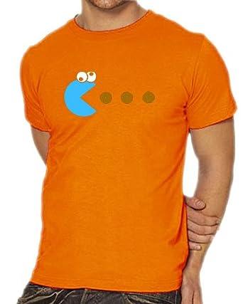Touchlines Herren T-Shirt Cookie - Pacman, orange, S, B1841-Orange-S