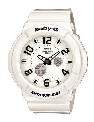Baby-G Neon Illuminator White Dial Women's watch #BGA132-7B